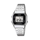 Relógio Casio Vintage Prata/Preto LA680WA-1DF