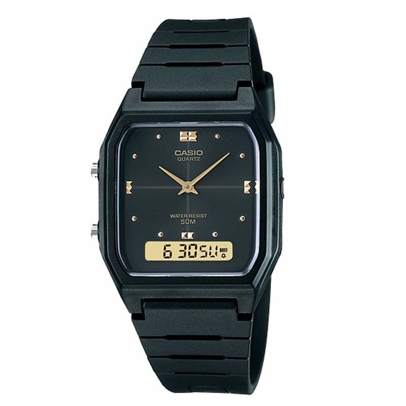 d7b84a97f79 Compre Relógio Casio Vintage Preto AW-48HE-1AVDF - Back Wash