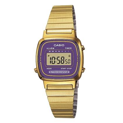 Relógio Casio Vintage Preto/Roxo LA670WGA-6DF