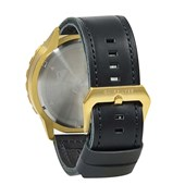 Relógio Quiksilver B-52 Chrono Leather Black Gold