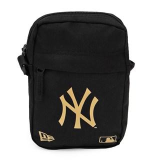 Shoulder Bag New Era NY Yankees Preta e Dourada