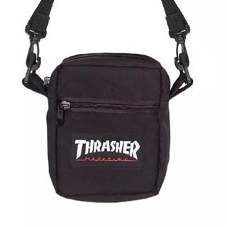 Shoulder Bag thrasher Patch Logo Preta