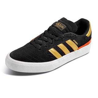 Tênis Adidas Busenitz Vulc II Preto e Dourado