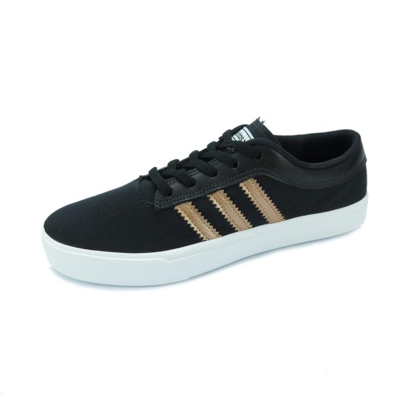 d4dd6c0c094 Tênis Adidas Feminino Sellwood Black Gold - Back Wash