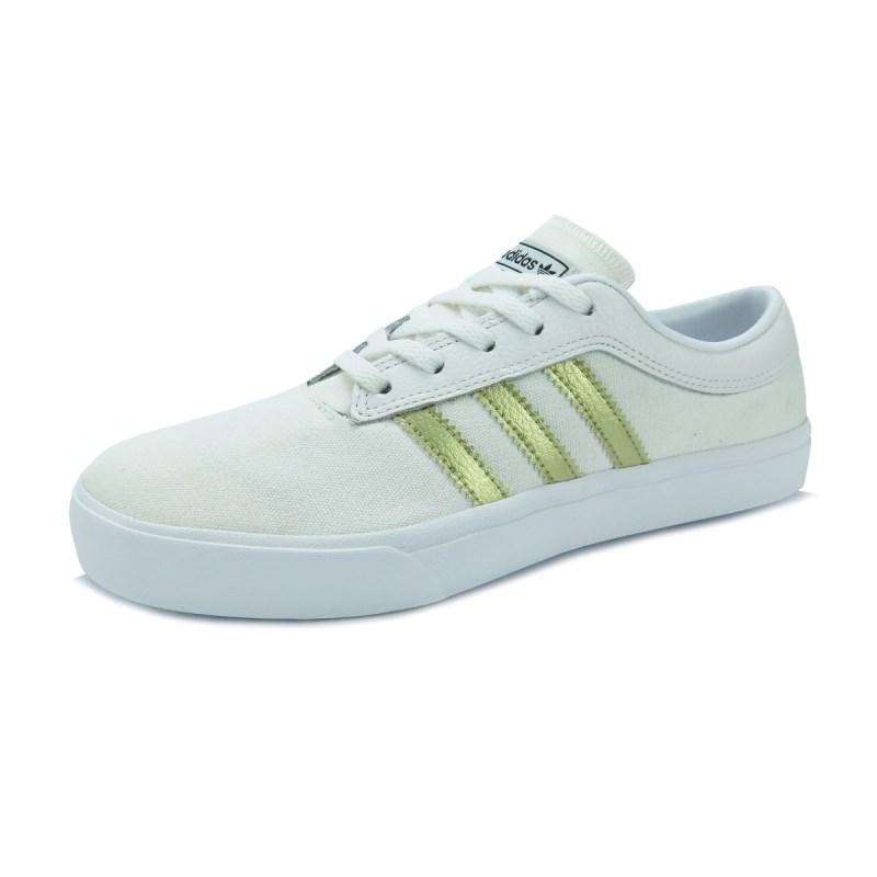Tênis Adidas Feminino Sellwood White Gold - Back Wash ff3fb4dd2f4d7