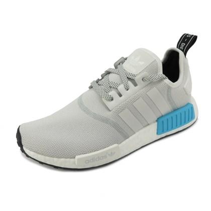 Tênis Adidas NMD R1 White/Bright Cyan