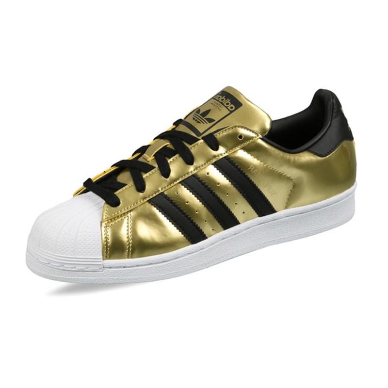 d1f42939f6c Tênis Adidas Superstar Feminino Dourado - Back Wash