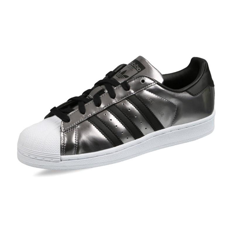 Tênis Adidas Superstar Feminino Prateado