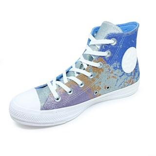 Tênis Converse All Star Chuck Taylor Hi Lift Glitter Prata Azul