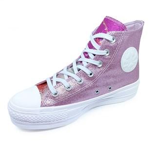 Tênis Converse All Star Chuck Taylor Hi Lift Glitter Rosa