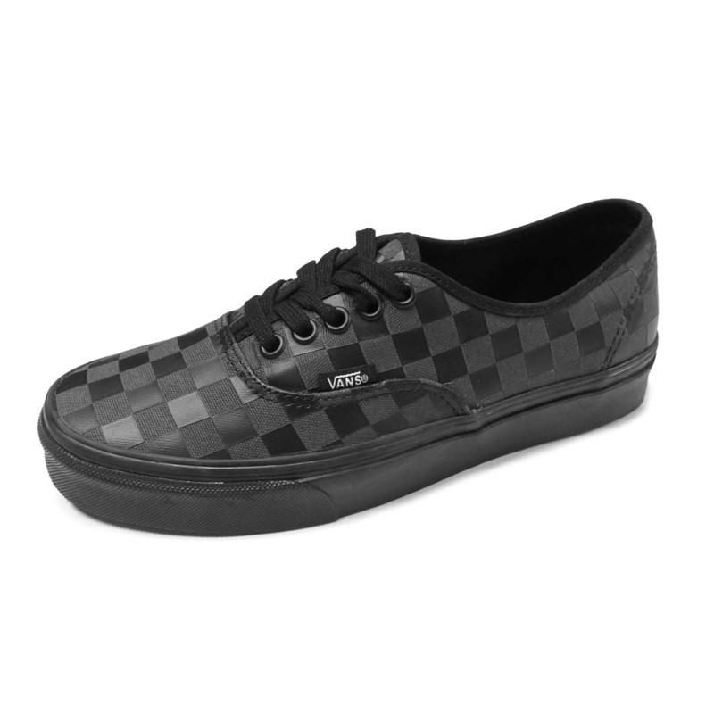 Tênis Feminino Vans Authentic Black Checkboard