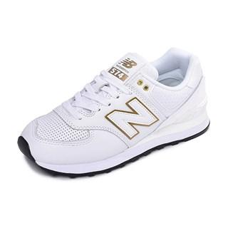Tênis New Balance Feminino WL574LDE Branco Dourado