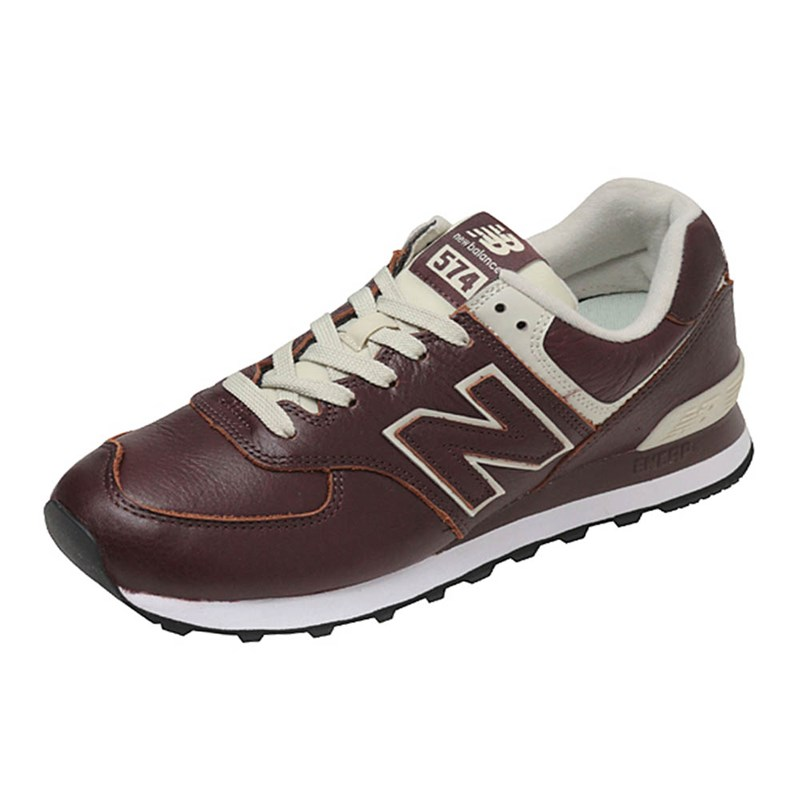 e7a56705079 Tênis New Balance ML574LPB Couro Bordô - Back Wash