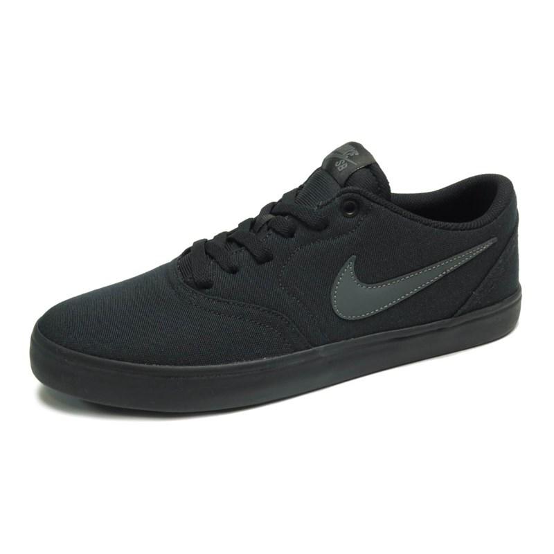 Tênis Nike SB Check Solar Canvas Preto 843896-002 - BackWash fa541d49fded2