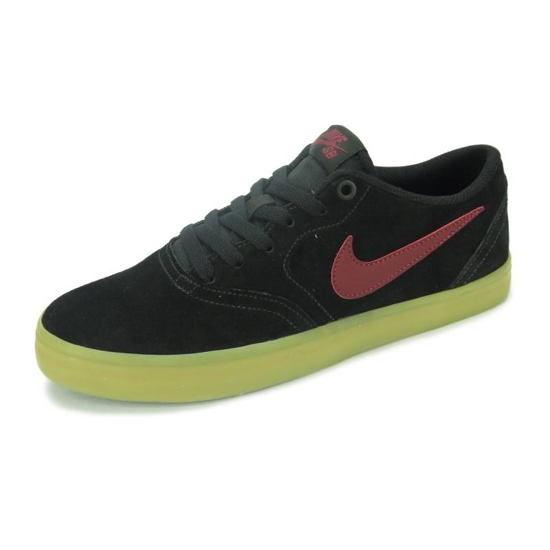 Tênis Nike SB Check Solar Preto Vermelho - 843895-069 e2a9d898400
