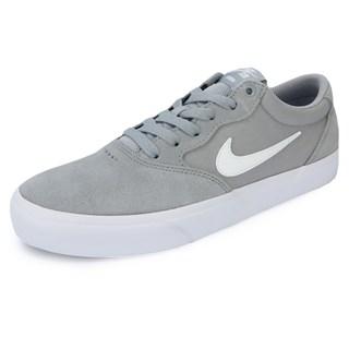 Tênis Nike SB Chron Solarsoft Cinza e Branco