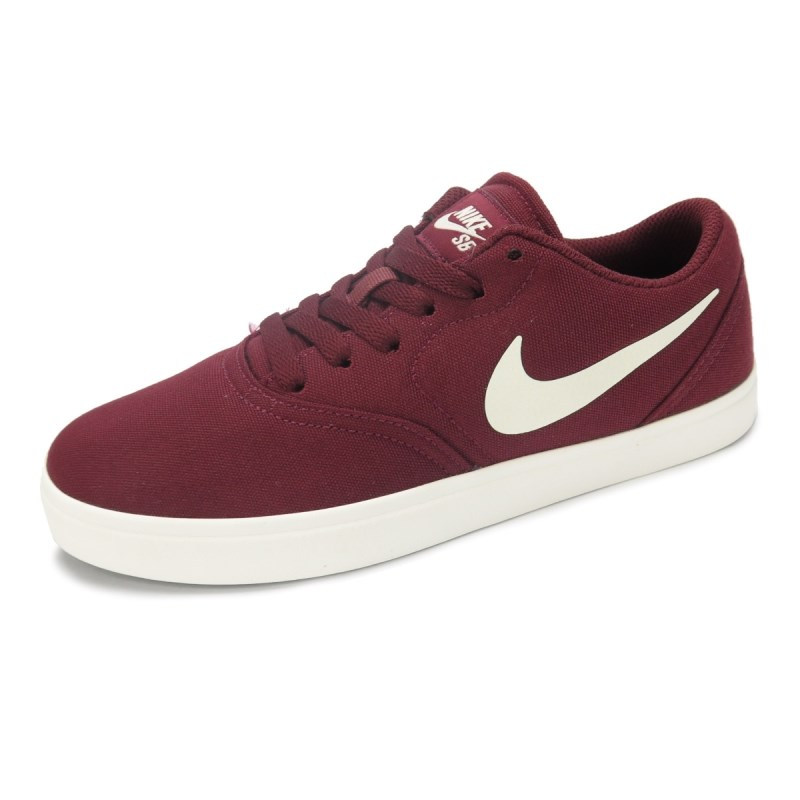 Tênis Nike SB Feminino Check Canvas Bordô - 905373-601 - Back Wash 64e961a15cb92