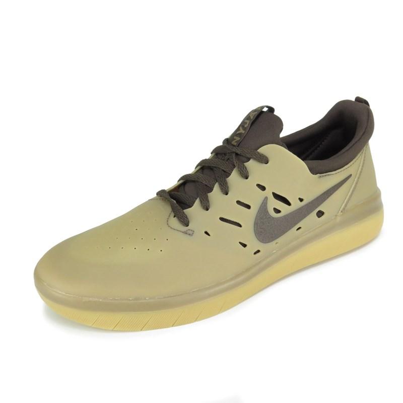 15c32628d7 Tênis Nike SB Nyjah Free Bege Marrom AA4272-992 - Back Wash