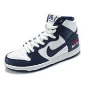 Tênis Nike SB Zoom Dunk High Pro Branco e Azul
