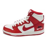 Tênis Nike SB Zoom Dunk High Pro Branco e Vermelho