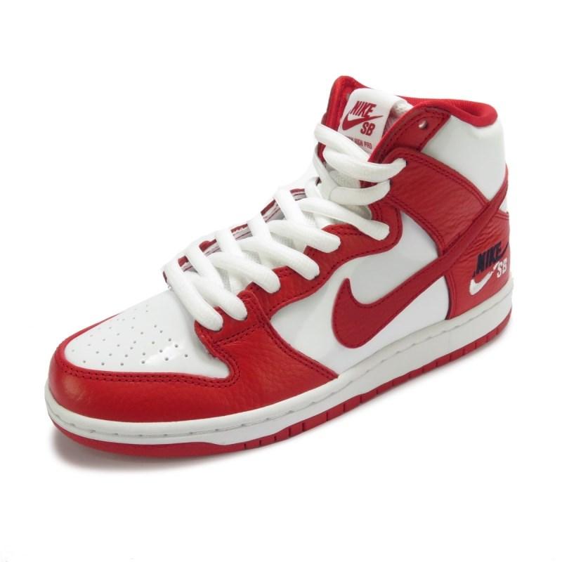 ab72641c6a Tênis Nike SB Zoom Dunk High Pro Branco e Vermelho - Back Wash