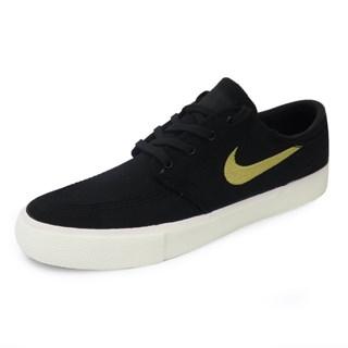 Tênis Nike SB Zoom Stefan Janoski CNVS Preto e Dourado