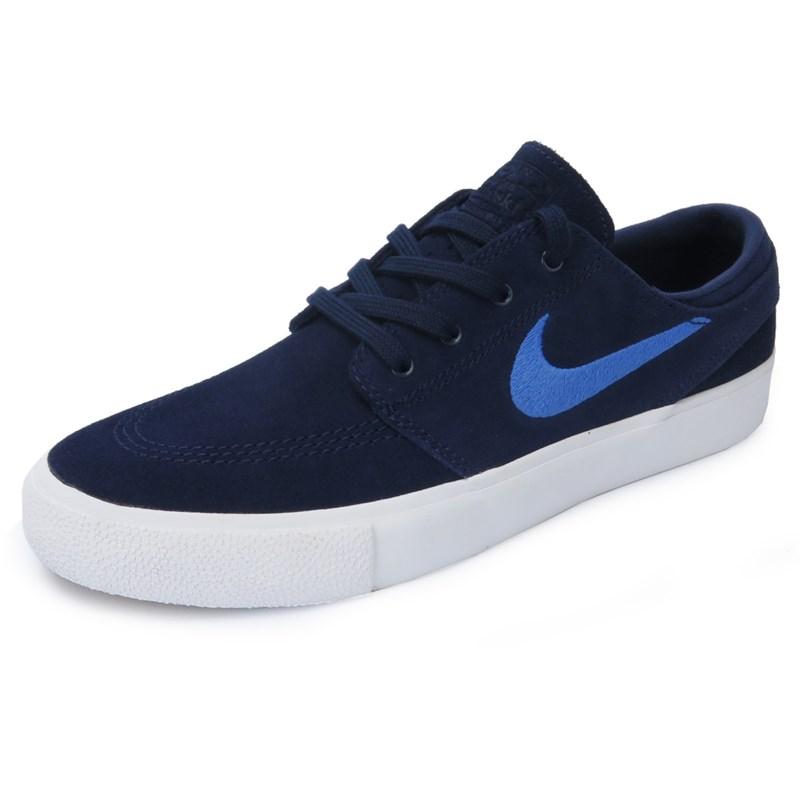 Céntrico Concesión Artes literarias  Tênis Nike SB Zoom Stefan Janoski RM Azul - Back Wash