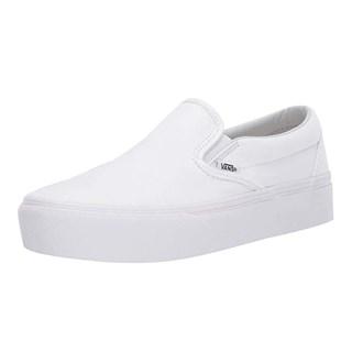 Tênis Vans Classic Slip-On Plataform True White Branco