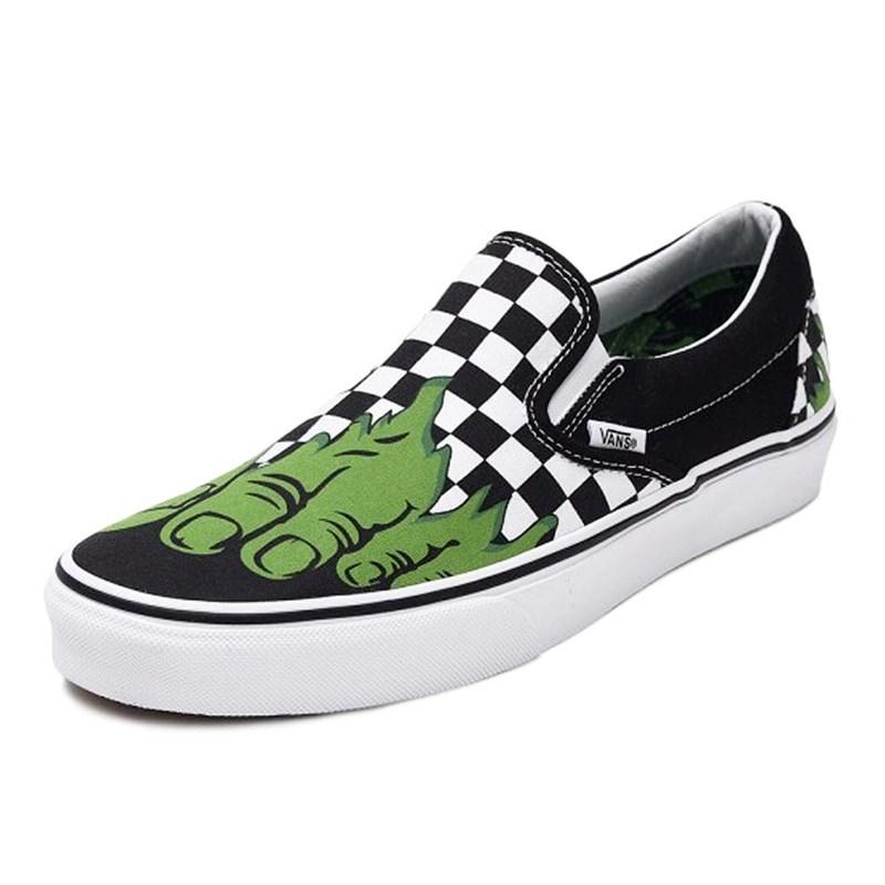 4a64f2d6ffe59 Tênis Vans Slip-On Marvel Hulk Verde - Back Wash